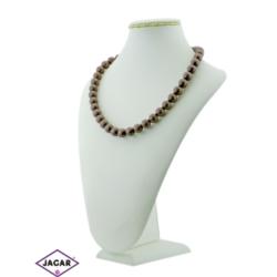 Naszyjnik perła brązowa mat - PER59 - 43/65