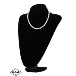 Naszyjnik perła biała matowa - PER214 43/49