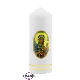 Świeca ołtarzowa M.B. Częstochowska - dł:17cm SG27
