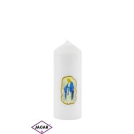 Świeca ołtarzowa -M.B.Niepokalana - dł13cm SG33