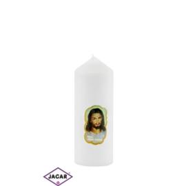 Świeca ołtarzowa -Jezus Miłosierny - dł:13cm SG34