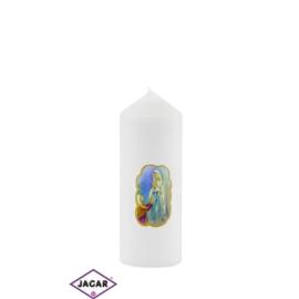 Świeca ołtarzowa -M.B.Niepokalana - dł13cm SG35