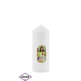 Świeca ołtarzowa -Jezus Miłosierny - dł:13cm SG36