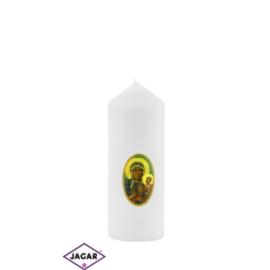 Świeca ołtarzowa M.B. Częstochowska - dł:13cm SG37