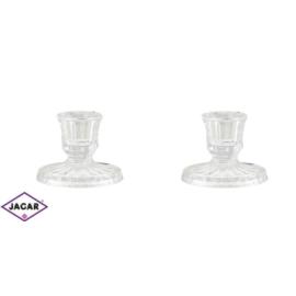 Szklane świeczniki - hand made - 6cm - JC47