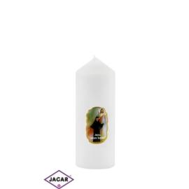 Świeca ołtarzowa Jezus Miłosierny - dł:13cm SG43