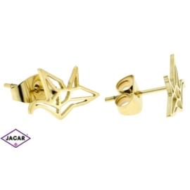 Kolczyki pozłacane - celebrytka - 0,9cm EAP1523