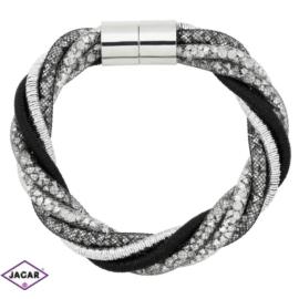 Bransoletka z kryształami - dł: 21 cm BRA466