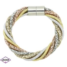 Bransoletka z kryształami - dł: 21 cm BRA467