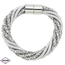 Bransoletka z kryształami - dł: 21 cm BRA468