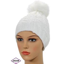 Czapka zimowa damska - biały - CDW190