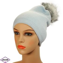 Czapka zimowa damska - błękit - CD214