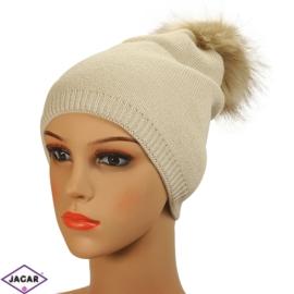 Czapka zimowa damska - beż - CD217