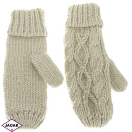 Rękawiczki - beż - długość 24cm RK404