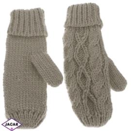 Rękawiczki - brąz - długość 24cm RK405