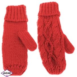 Rękawiczki - czerowny - długość 24cm RK409