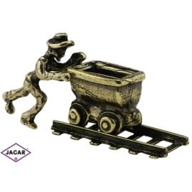 Figurka górnik z wagonikiem - 10szt. - 2,3cm FR161