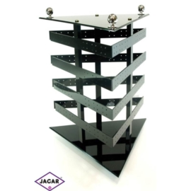 Ekspozytor, stojak trójkątny, czarny - wys. 30cm
