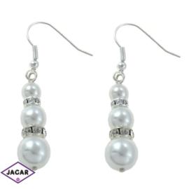 Kolczyki perłowe - dł. 5cm