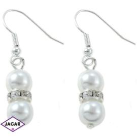 Kolczyki perłowe - dł. 4cm