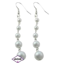Kolczyki perłowe - dł. 7cm