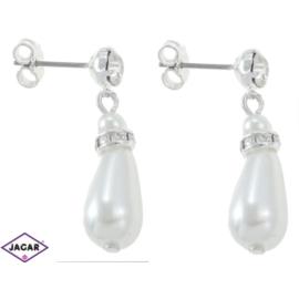 Kolczyki perłowe - dł. 3cm