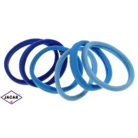 Gumka do włosów - mix niebieskich - śr. 5,5cm 6szt