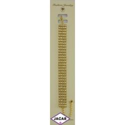 Bransoletka - złota z białymi dżetami - dł. 22cm