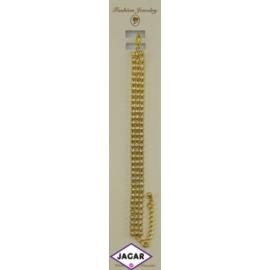Bransoletka - złota z białymi dżetami - dł. 23cm