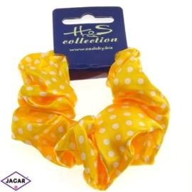Gumka do włosów - żółta - obwód: 14cm