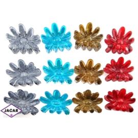 Szczęki do włosów kwiat - mix kolorów - szer. 7cm