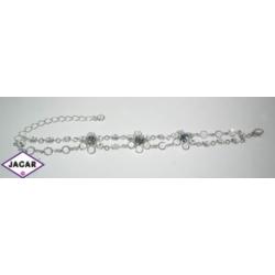 Bransoletka - srebrno-biała - długość do 21cm BC81