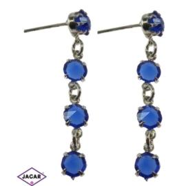 Kolczyki - niebieski chanel - długość: 3,8cm KC38