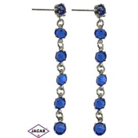 Kolczyki - niebieski chanel - długość: 7,1cm KC34