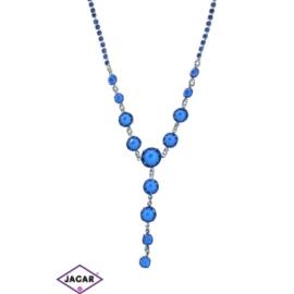 Naszyjnik - srebrno-niebieski - obwód do 44cm NC14