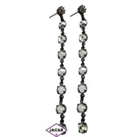 Kolczyki - biały chanel - długość: 8cm KC14