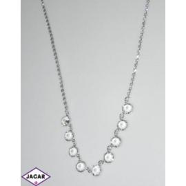 Naszyjnik - srebrno-biały - 40-46cm NC25