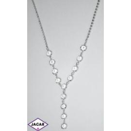 Naszyjnik - srebrno-biały - 40-46cm NC2