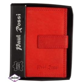 Portfel - damski - czerwony - 11,5x9cm P6