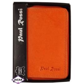 Portfel - damski - pomarańczowy - 13,2x9cm P13