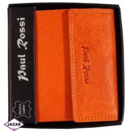 Portfel - damski - pomarańczowy - 10,6x9,8cm P15