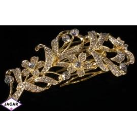 Ozdobny złoty grzebień z dżetami dł:10cm