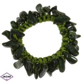 Gumka owijka - zielona z kamieniami - OG8