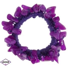 Gumka owijka - fioletowa z kamieniami - OG11
