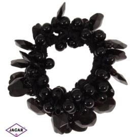 Gumka owijka - czarna z ozdobami - OG33