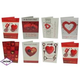 Pocztówki Walentynkowe 44703-2 25szt/op