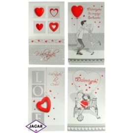 Pocztówki Walentynkowe przestrzenne 44932 10szt/op