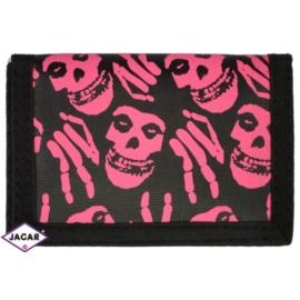 Portfel dziecięcy - czarno-różowy 11cmx7cm PD28
