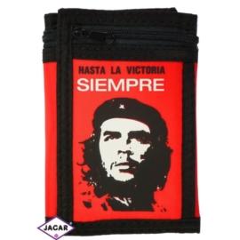 Portfel młodzieżowy czerwono-czarny 13cmx9cm PD30