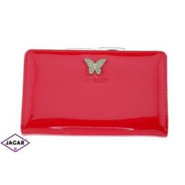 Portfel damski-czerwony lakierowany-15cmx9cm P62